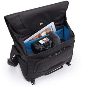 Case Logic DSM-103 Large DSLR + iPad Messenger Bag fold away top flap