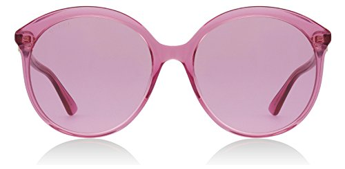Gucci GG0257S 005 Pink GG0257S Round Sunglasses Lens Category 1 Size (Pink Gucci Sunglasses)