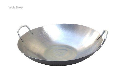 flat bottom carbon steel wok 14 - 5