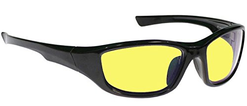 Viper Interchangeable Driving Glasses with Three Sets of Lenses - Clear, Yellow and Peach with Ar Coating and Scratch Coating ()