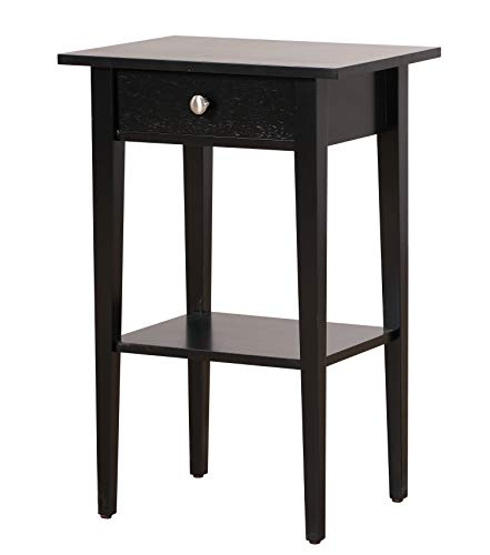 Glory Furniture Dalton G037-N, Black Nightstand, Side Table 28