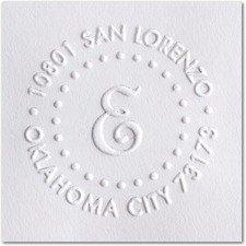 (Custom Embosser Seal Hand Held Style- 44 Shiny EZ-Seal Round Decorative Personalized Custom Address Embosser)