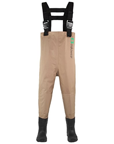 OAKI Toddler & Children's Breathable Waders, Tan 2T Toddler ()
