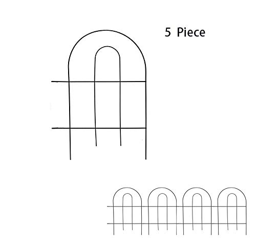 WOLUNWO Decorative Garden Fencing, 18 Inch x 13 Inch, Overall Length 65 Inch,Garden Barrier Portable Decorative Flower Fence, Outdoor Fences Border Fence Decorative Metal Garden Fencing (Gardens Metal For Decorative Fencing)