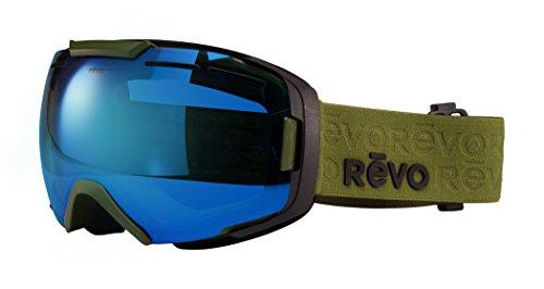 Revo RG 7007 08 PBL Echo Ski & Snowboard Goggles, Military Green Frame, Blue Water Lens by Revo