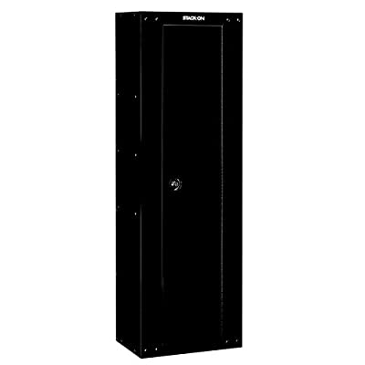 Stack-On GCB-8RTA Steel 8-Gun Ready to Assemble Security Cabinet, Black