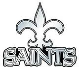 NFL New Orleans Saints Chrome Automobile Emblem