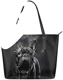 Animal pour femmes filles dames étudiant bourse sac fourre-tout sac poids léger sangle sacs à main en cuir animal français bouledogue sacs à bandoulière