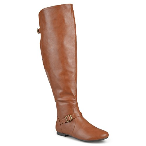 Chestnut Buckle Collection Round Womens Tall Journee Toe Boots Riding Xfq8pCwna