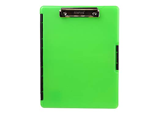 Dexas Slimcase 2 Storage Clipboard with Side Opening, Neon Green