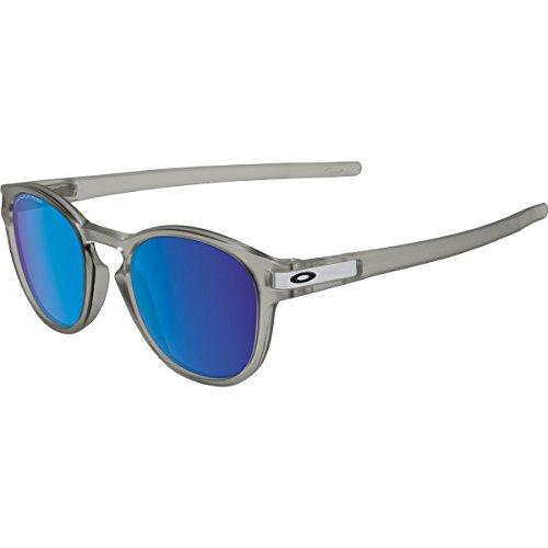 Oakley Men's Latch OO9265-08 Polarized Iridium Round Sunglasses, Matte Grey Ink, 52.6 - Prescription Be Oakley Sunglasses Can