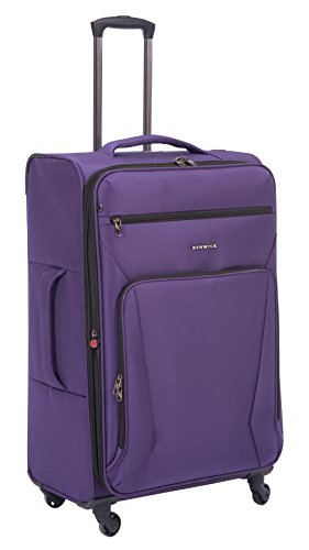 Renwick 28 Inch Softside Lightweight Luggage Spinner Suitcase Purple