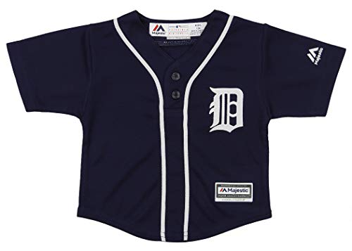Outerstuff MLB Infants's Cool Base Henley Tee, Detroit Tigers 24 Months ()