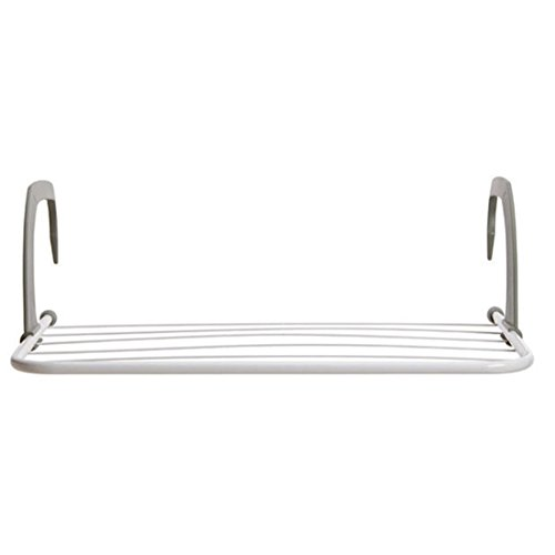 SODIAL 5 bar Metal Portable radiator hanger clothes dryer Ai