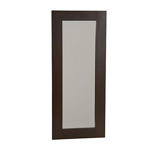Household Essentials 8049-1 Rectangle Wall Mirror D cor 29.5 in x 12.6 in Walnut