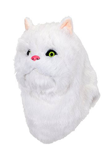 elope White Cat Mouth Mover (Grumpy Cat Halloween Mask)