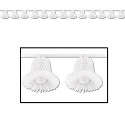 Tissue Bell Streamer (white) Party Accessory  (1 count) (1/Pkg)