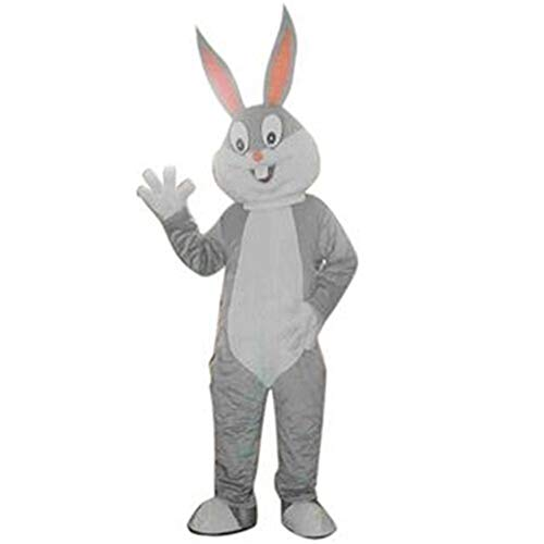 Bugs Bunny Mascot Costume Outfit Adult Size Halloween Rabbit Fancy Dress Cartoon Party Prop (L - 5'9'' to 5'11'', Grey) ()