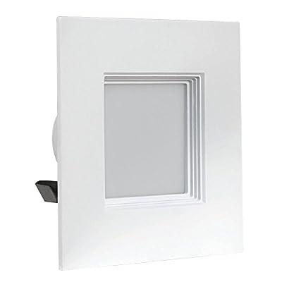 """Feit Electric LEDRSQ4/930CA LED Dimmable Retrofit Kit 4"""" Square 3K, White"""