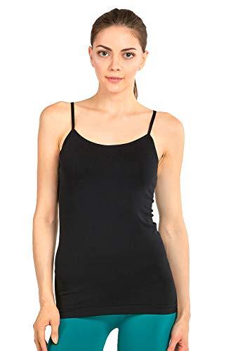 - MOPAS Women's Seamless Nylon Camisole Tank Top - Black