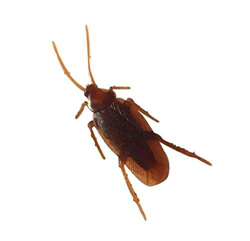 R.S.Magic Tricks Joke Cockroaches Novelty Prank Life Like Plastic Toy (Brown)