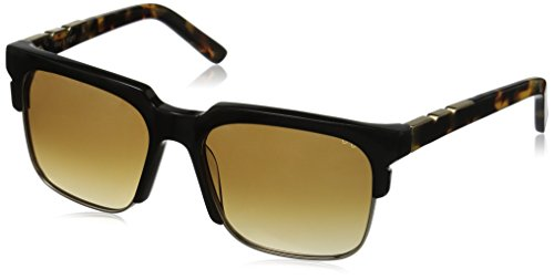 Pared Eyewear Day and Night Black with Gold Rim Wire Brown Square Sunglasses, Rose Gradient Lenses, 21 - Rim Glasses Square Wire