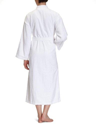 Buscher 20118-100-M Bademantel Kimono Baumwolle 400g/qm, weiß