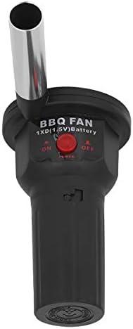 Camidy Souffleur d'air de Ventilateur de Barbecue Portable Léger Rechargeable 5V pour Soufflet de Feu de Barbecue en Plein Air