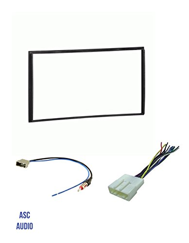 Cube Special Black Edition (ASC Car Stereo Install Dash Kit, Wire Harness, and Antenna Adapter for installing a Double Din Aftermarket Radio for select Nissan- Vehicle guide listed below)