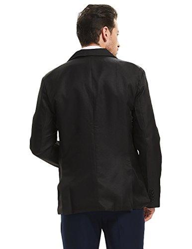 e899f0f769cc Pishon Men s Slim Fit Blazer Jacket Solid Cotton Casual One Button Sport  Coats