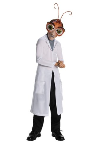 Dreamworks Monsters Vs. Aliens Child's Deluxe Dr. Cockroach Costume, Child Medium