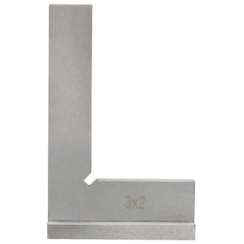 90 Degree Wide Base 3'' x 2'' Machinists Work Shop Squares Steel Bevel Edge
