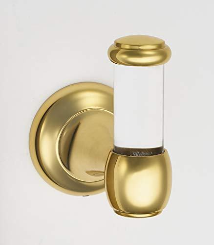 Alno Royale Acrylic Bath, Robe Hook, UNLACQUERED Brass