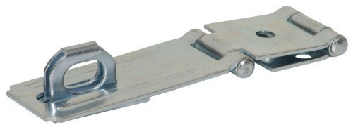 The Hillman Group 851414 3-1/2-Inch Double Hinge Safety Hasp, Zinc Plated by The Hillman Group