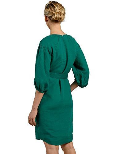 Robe Mat Vert De Misaine Lin Avec En Femme Ceinture W92YHEID