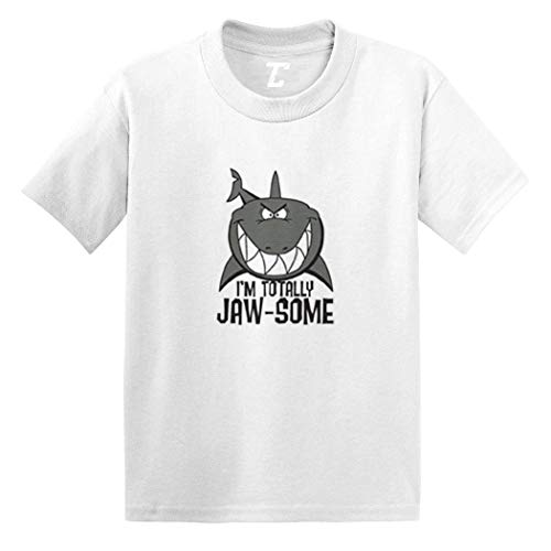 I'm Totally Jaw-Some - Shark Cool Infant/Toddler Cotton Jersey T-Shirt (White, 5T) (Wht Fin)
