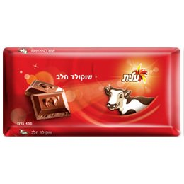 Lot of 10 Jewish Israeli Certified Kosher Milk Chocolate tablets - 2.2 lbs ()