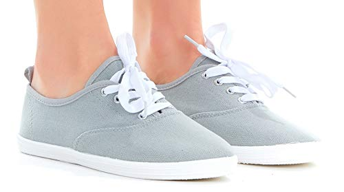 79e4887573 Amazon.com | Women Lace up Canvas Shoes, Casual Lightweight Sneakers ...