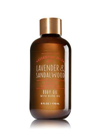 (Lavender & Sandalwood Body Oil with Olive Oil)