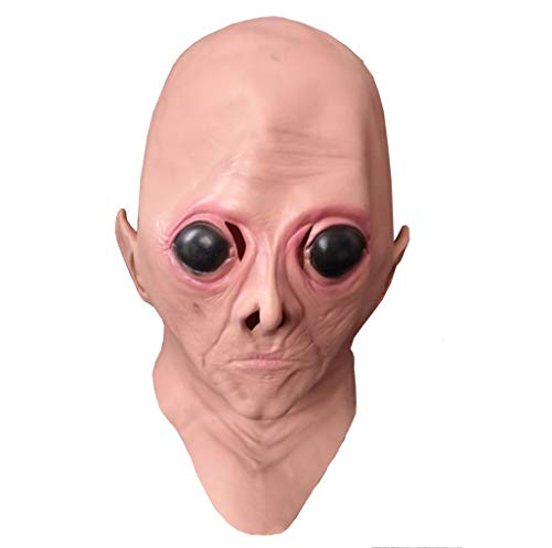 Mask JUN Carnival Halloween Big Eye Alien High-end Film Simulation Makeup Head Cover ()