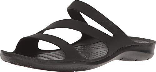 Crocs Women's Swiftwater Sandal Sport Black, 10 M US