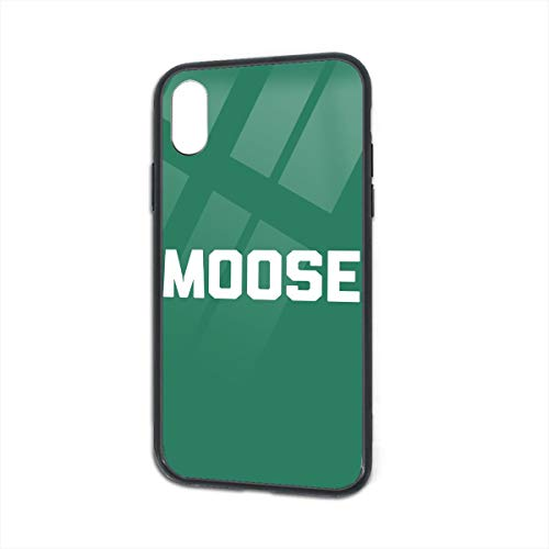 Anti-Scratch Moose Glass Back Phone Case for iPhone X iPhone Xs