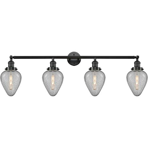 Bathroom Vanity 4 Light Fixtures with Oil Rubbed Bronze Finish Cast Brass Glass Material Medium 43