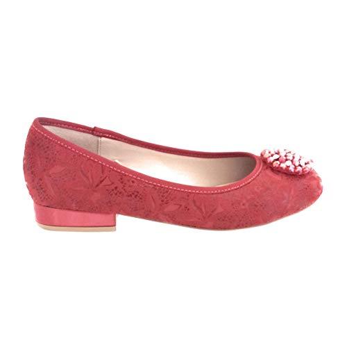 Bailarinas Rojo para Mujer Lotus Red vtq77w