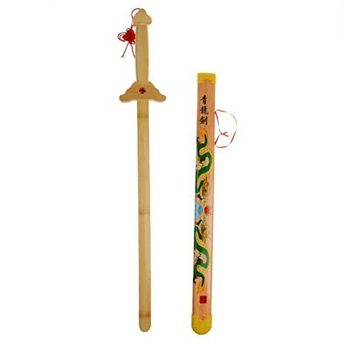 NOQ Yellow Dragon Sword/Wooden Weapon Model/Martial Arts Props/Home Furnishing Decoration/Kids Toys