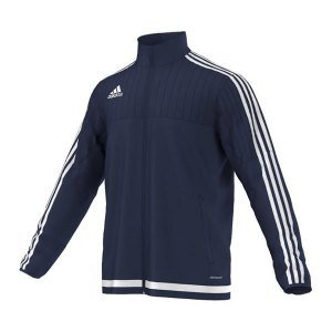 adidas Tiro 15 Trainingsjacke Blau Weiss Größe M: