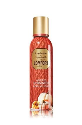 Bath & Body Works Pumpkin Latte & Marshmallow Whipped Shimmer Body Mousse 5.3 (Whipped Body Mousse)
