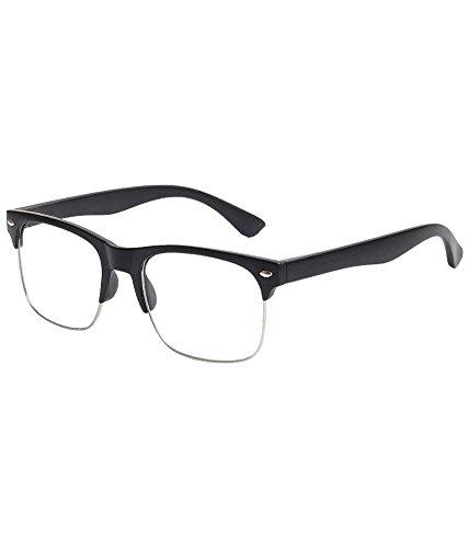 Mount Clear Wayfarer Lens Black Unisex Frame Key Style Stylen dCBxoe