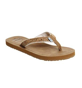 0b685de3fd2 TOMS Women s Solana Flip Flop Cork Glitz Sandal 6 B (M)