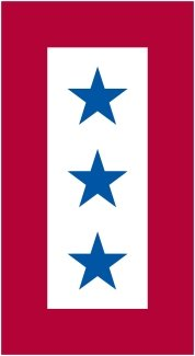 Blue Star Decal Service (Blue Star Mother's Service Flag Magnet 3 Stars)